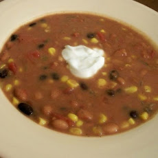 Spicy Healthy Taco Bean Soup
