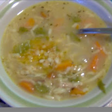 Homemade Chicken Noodle Soup With Garlic-chili Mojo