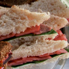 Pickled Radish and Sweet Butter Tea Sandwiches Recipe