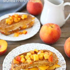 Peaches and Cream Stuffed French Toast