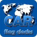 CAR flag clocks icon