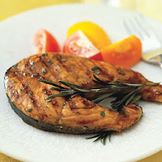 Salmon Steak with Orange-Balsamic Glaze