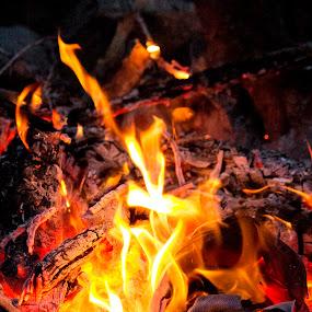 A Little Fun With Flames by Denver Pratt - Abstract Fire & Fireworks