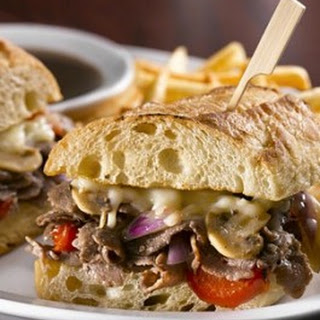 Cheese Steak Sandwich with Bacon Mayonnaise