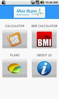 Screenshot of Max Bupa Premium Calculator