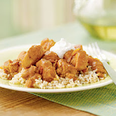 Spicy Peanut Chicken over Rice