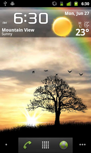 Sun Rise Pro Live Wallpaper - screenshot