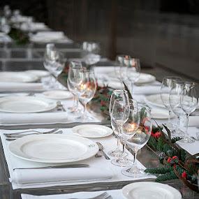 dinner by Dolors Bas Vall - Food & Drink Eating ( dinner, glasses, celebration, restaurant )