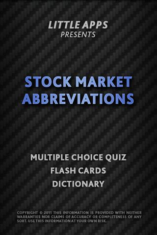 STOCK MARKET ABBREVIATIONS