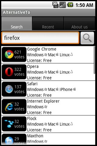 AlternativeTo Android Client