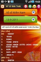 Screenshot of Ket qua xo so