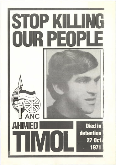 Photo of AHMED TIMOL from ANC commemorative poster