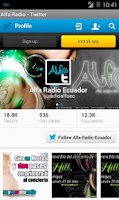 Screenshot of Alfa Radio Ecuador