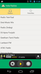 Radios and Music from India - screenshot
