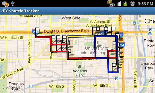 UIC Shuttle Tracker