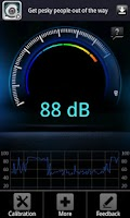 Screenshot of Decibel meter