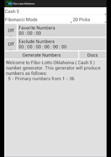 Fibo-Lotto Oklahoma - screenshot