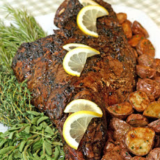 Roast Leg of Lamb with Garlic and Herbs
