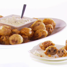 Beer-Battered Cremini Mushrooms