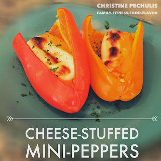 EASIEST Snack Ever ---> Cheese-Stuffed Mini-Peppers!