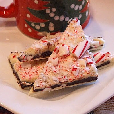 Layered Peppermint Crunch Bark