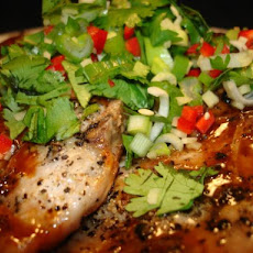 Hoisin Glazed Pork Chops With Thai Power Pack
