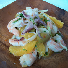 Marinated Seafood Salad with Orange and Olive