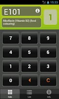 Screenshot of E Numbers Calc: Food Additives