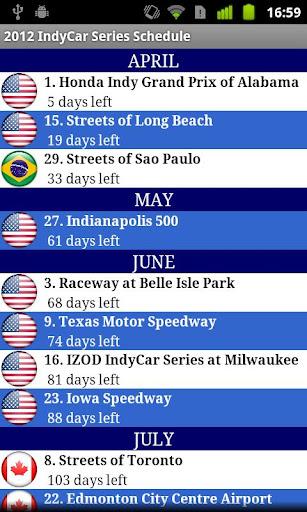 2014 IndyCar Series Schedule