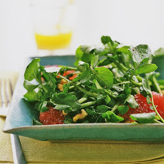 Watercress, Pink Grapefruit, and Walnut Salad