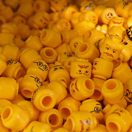 I Think I Am Losing My Head by Susan Fries - Artistic Objects Toys ( losing, toys, yellow, legoland, head, lego )