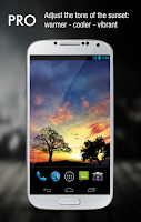 Screenshot of Sunset Hill Pro Live Wallpaper