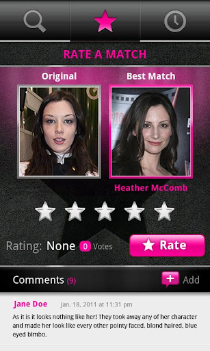 PicFace Celebrity Matchup