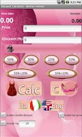 Screenshot of Discount Calculator - Woman