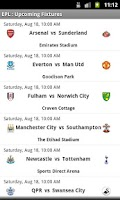 Screenshot of Simple EPL Scores