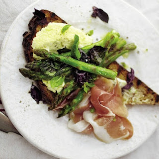 April Bloomfield's Asparagus with Parmesan Pudding and Prosciutto