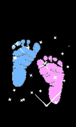 Baby boy and girl feet LWP