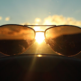 Sunglasses by Abraham Elizondo - Artistic Objects Clothing & Accessories ( sunset, object, view, sunglasses, filter, sun )