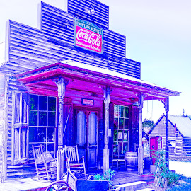Old Store by Mike Watts - Digital Art Places ( gold hill, old, store )