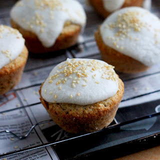 Lemon Coconut Cakes With Coconut Glaze And Sesames