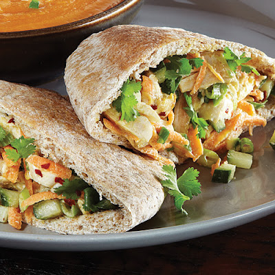 Asian Chicken Salad Pitas