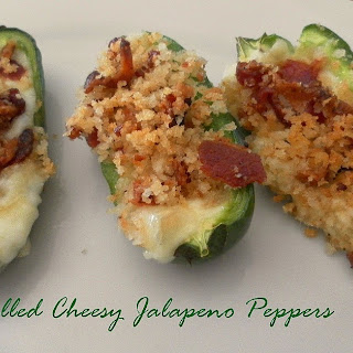 Grilled Cheesy Jalapeno Peppers