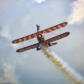 Breitling Wingwalkers by Satya Adt - News & Events Sports ( aircraft, pilot, aerosuperbatics, wingwalking, daredevil pilot, breitling wingwalkers )
