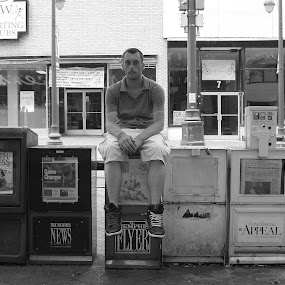 Newspaper Stand by Paul Hopkins - Black & White Street & Candid (  )