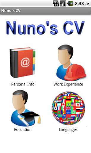 Nuno's CV