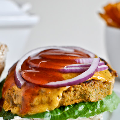 BBQ Cheddar Chickpea Burgers