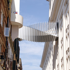 twisted stair case by John Westwood - City,  Street & Park  Street Scenes