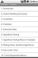 Screenshot of Statistics 1