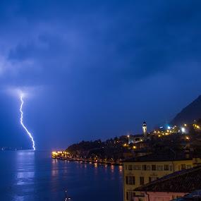 Limone thunderstruck by Luka Milevoj - Landscapes Weather