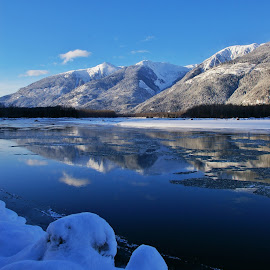 Skeena River by Todd Bellamy - Landscapes Mountains & Hills